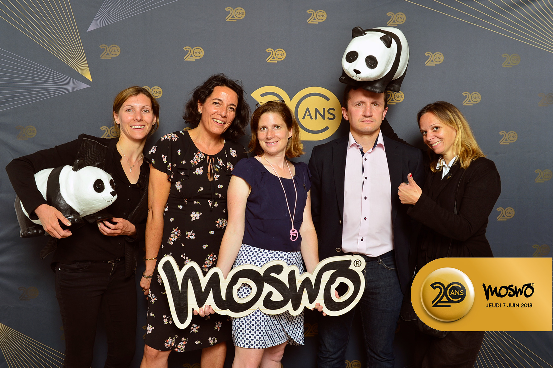 Photocall Moswo 20 ans