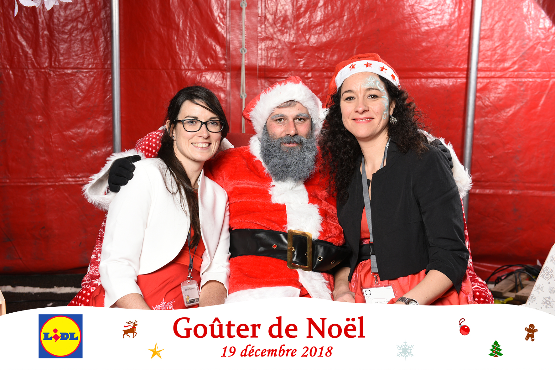 Photocall - Christmas party Lidl Bretagne
